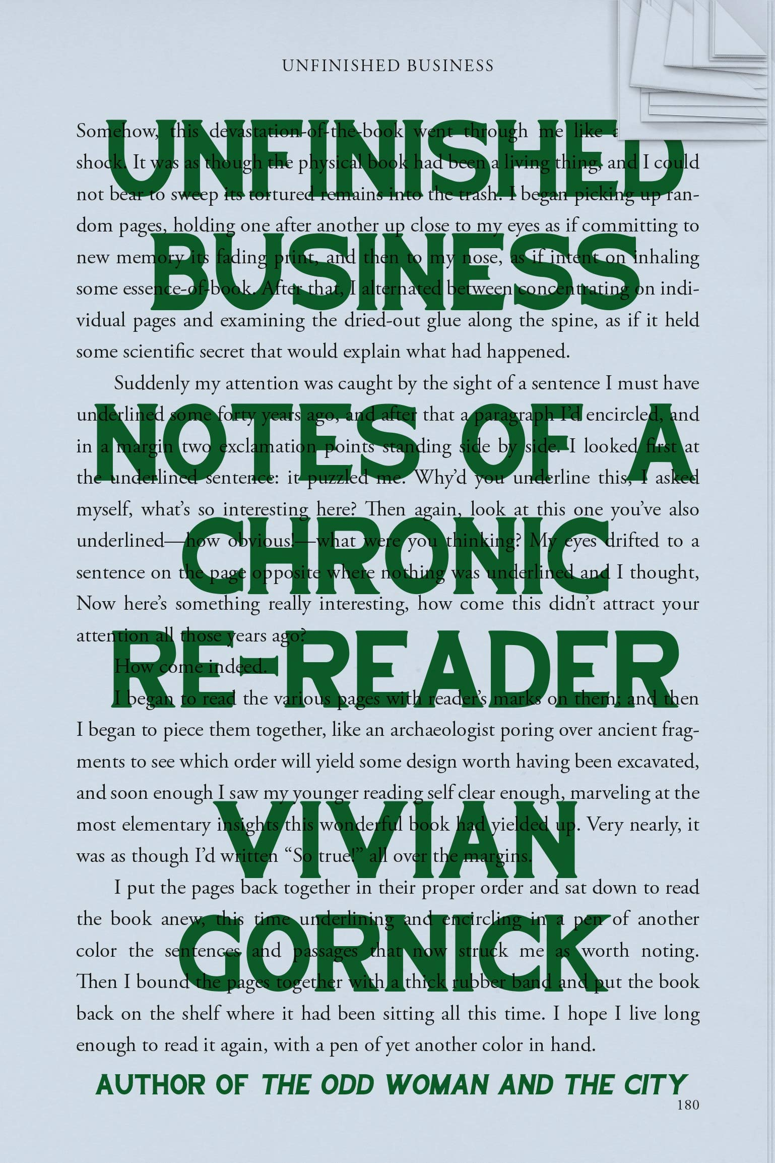 Vivian Gornick book unfinished business